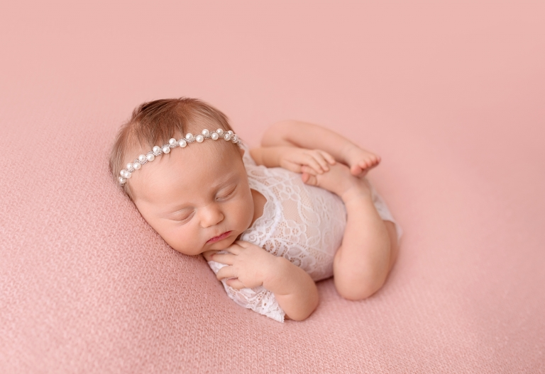 Newborn pink blush dainty baby girl